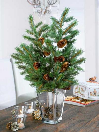Новогодние елки из веток сосны своими руками